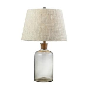Glass Bottle - One Light Table Lamp