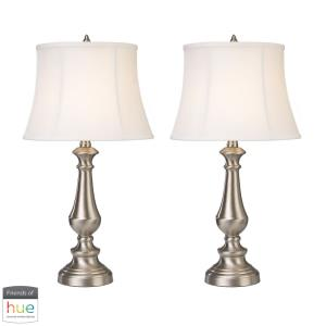 Fairlawn - 25 Inch 60W 2 LED Table Lamp with Philips Hue LED Bulb/Dimmer (Set of 2)