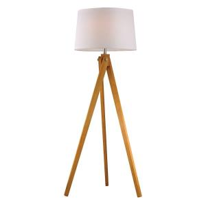 Wooden Tripod - One Light Floor Lamp