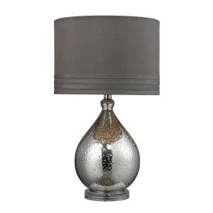 Bubble Glass - Transitional Style w/ Luxe/Glam inspirations - Acrylic and Glass 1 Light Table Lamp - 24 Inches tall 14 Inches wide