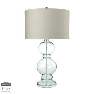 """Curvy Glass - 32"""" 60W 1 LED Table Lamp with Philips Hue LED Bulb/Dimmer"""