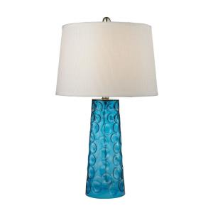Hammered Glass - One Light Table Lamp
