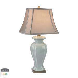 """Celadon - 29"""" 60W 1 LED Table Lamp with Philips Hue LED Bulb/Dimmer"""