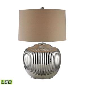 "Ribbed Ceramic - 27"" 9.5W 1 LED Table Lamp"