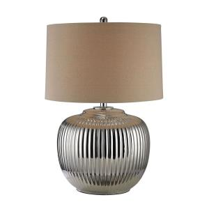 Ribbed Ceramic - One Light Table Lamp