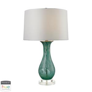 "Aqua Swirl - 27"" 60W 1 LED Table Lamp with Philips Hue LED Bulb/Dimmer"