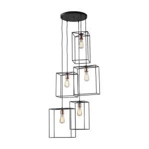 Box Pendant - Five Light Pendant