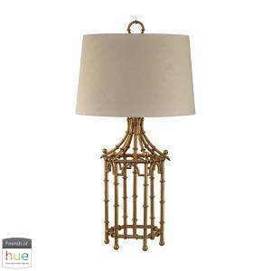 "Bamboo Birdcage - 32.25"" 60W 1 LED Table Lamp with Philips Hue LED Bulb/Bridge"