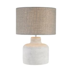 Rockport - Transitional Style w/ Urban/Industrial inspirations - Concrete and Metal 1 Light Table Lamp - 17 Inches tall 12 Inches wide