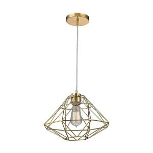 Paradigm - Modern/Contemporary Style w/ Luxe/Glam inspirations - Metal 1 Light Pendant - 9 Inches tall 13 Inches wide