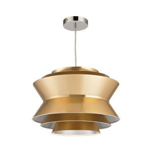 Godnik - Modern/Contemporary Style w/ Luxe/Glam inspirations - Metal and PVC 1 Light Pendant - 12 Inches tall 15 Inches wide