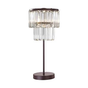 Antoinette - Traditional Style w/ Luxe/Glam inspirations - Crystal and Metal 1 Light Table Lamp - 18 Inches tall 8 Inches wide