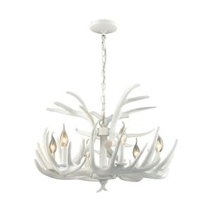Big Sky - Transitional Style w/ Luxe/Glam inspirations - Composite 6 Light Chandelier - 17 Inches tall 25 Inches wide