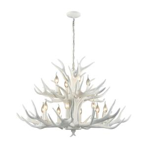 Big Sky - Transitional Style w/ Luxe/Glam inspirations - Composite 12 Light Chandelier - 27 Inches tall 39 Inches wide