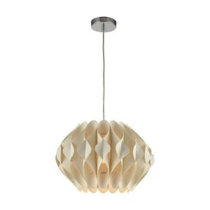 Kirigami - Modern/Contemporary Style w/ Scandinavian inspirations - Faux Silk 1 Light Pendant - 9 Inches tall 16 Inches wide