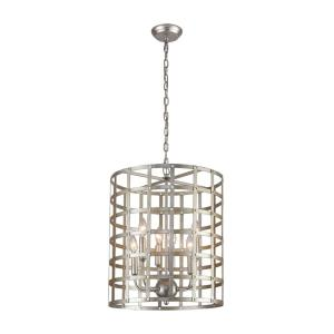 Panjandrum - Transitional Style w/ ModernFarmhouse inspirations - Metal 4 Light Pendant - 22 Inches tall 18 Inches wide