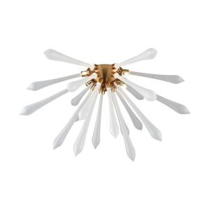 Spiritus - Modern/Contemporary Style w/ Mid-CenturyModern inspirations - Glass and Metal 12W 4 LED Flush Mount - 12 Inches tall 24 Inches wide