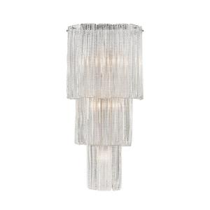 Diplomat - Transitional Style w/ Luxe/Glam inspirations - Glass and Metal 5 Light Wall Sconce - 27 Inches tall 13 Inches wide