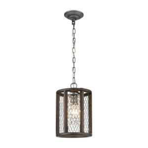 Renaissance Invention - Transitional Style w/ ModernFarmhouse inspirations -  1 Light Mini Pendant - 12 Inches tall 8 Inches wide