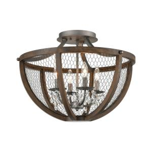 Renaissance Invention - Transitional Style w/ ModernFarmhouse inspirations - 4 Light Semi-Flush Mount - 17 Inches tall 22 Inches wide