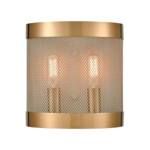 Line in the Sand - Modern/Contemporary Style w/ ArtDeco inspirations - Metal 2 Light Wall Sconce - 8 Inches tall 8 Inches wide