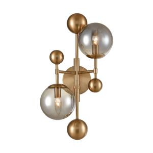 Ballantine - Modern/Contemporary Style w/ Luxe/Glam inspirations - Glass and Metal 2 Light Wall Sconce - 21 Inches tall 12 Inches wide