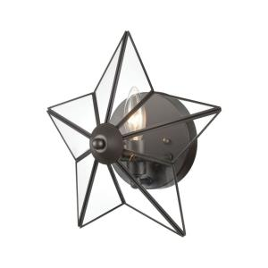 Moravian Star - Transitional Style w/ ModernFarmhouse inspirations - Glass and Metal 1 Light Wall Sconce - 12 Inches tall 12 Inches wide