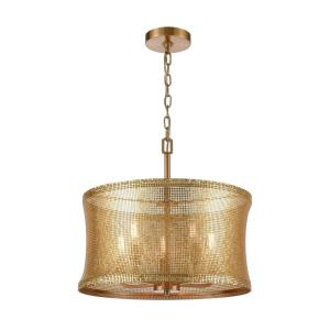Correspondence - Transitional Style w/ Luxe/Glam inspirations - Metal 5 Light Chandelier - 18 Inches tall 18 Inches wide