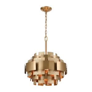 Case the Joint - Transitional Style w/ Luxe/Glam inspirations - Metal 3 Light Pendant - 19 Inches tall 17 Inches wide