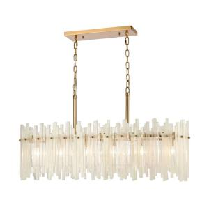 Brinicle - 6 Light Linear Chandelier