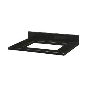 25 Inch Stone Top for Rectangular Undermount Sink with Single Faucet Hole