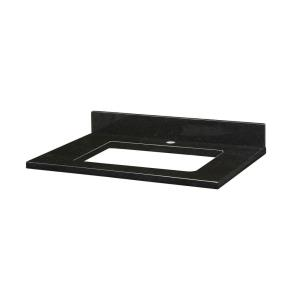 31 Inch Stone Top for Rectangular Undermount Sink with Single Faucet Hole
