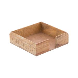 Cheers - 7.25 Inch Carved Paper Napkin Holder