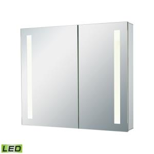 LED Lighted Mirrors - Modern/Contemporary Style w/ Luxe/Glam inspirations - LED Mirrored Medicine Cabinet - 28 Inches tall 32 Inches wide