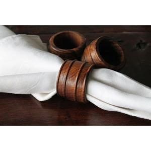 Wood - 4.5 Inch Napkin Rings (Set of 4)