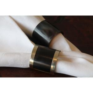 Horn - 4- Inch Napkin Ring (Set of 4)
