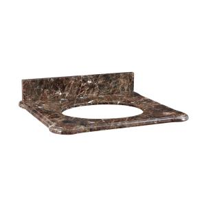 Malago - 25 Inch Stone Top for Oval Undermount Sink