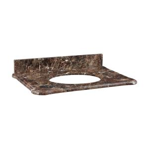 Malago - 31 Inch Stone Top for Oval Undermount Sink