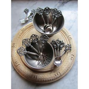 Key 1 Demitasse - 6.5- Inch Spoon (Set of 4)