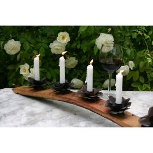 "Stave - 6"" WB Wine Candle Holder 5 Flower"