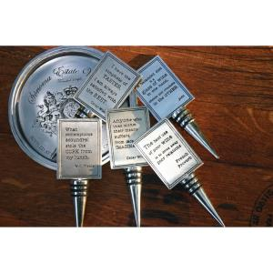 Oscar Wilde  InchAnyone Inch - 5.5 Inch Wine Stopper