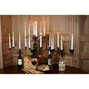 "15.63"" 4-Arm Contemporary Tapered Wine Bottle Candelabra (Set of 2)"
