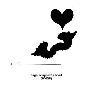 Angel Wings with Heart - 5.5- Inch Cookie Cutter (Set of 6)