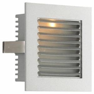 One Light Wall Recessed Step Light with Louvered Trim