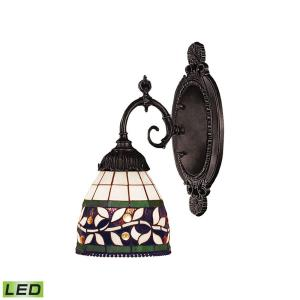 Mix- 9.5W 1 LED Wall Sconce in Traditional Style with Victorian and Vintage Charm inspirations - 10 Inches tall and 4.5 inches wide