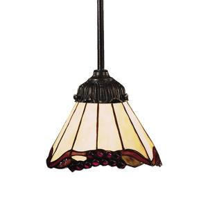 Mix- 9.5W 1 LED Mini Pendant in Traditional Style with Victorian and Vintage Charm inspirations - 23.5 Inches tall and 6 inches wide