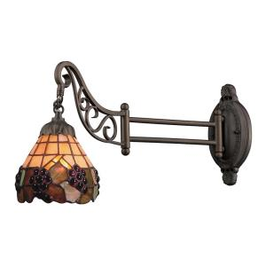 Mix-N-Match - 1 Light Swingarm Wall Sconce in Traditional Style with Victorian and Vintage Charm inspirations - 12 Inches tall and 7 inches wide