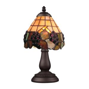 Mix-N-Match - 1 Light Table Lamp in Traditional Style with Victorian and Vintage Charm inspirations - 13 Inches tall and 5 inches wide