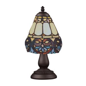 Mix-N-Match - 1 Light Table Lamp in Traditional Style with Victorian and Vintage Charm inspirations - 13 Inches tall and 6 inches wide