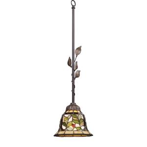Latham - 1 Light Mini Pendant in Traditional Style with Victorian and Vintage Charm inspirations - 27 Inches tall and 7 inches wide